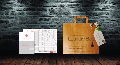 LAUNDRY LEAFLETS & BAGS: ROCABELLA HOTELS, POMEGRANATE SPA HOTEL