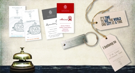 LUGGAGE TAGS: ROCABELLA HOTELS, POMEGRANATE SPA HOTEL